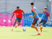 拜仁官方:阿拉巴恢复有球训练