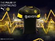 多特蒙德2018/19赛季客场球衣发布