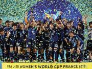 首次,U20女足世界杯日本夺冠