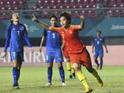 中国女足5-0泰国晋级,半决赛战中国台北,王霜帽子戏法