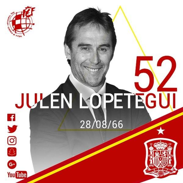 冰释前嫌,西班牙足协为洛佩特吉送生日祝福