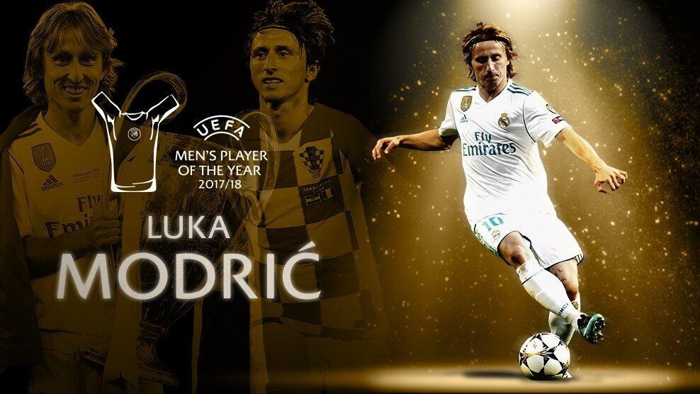 欧足联年度最佳球员:莫德里奇