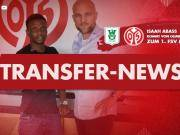 官方:美因茨签下加纳前锋