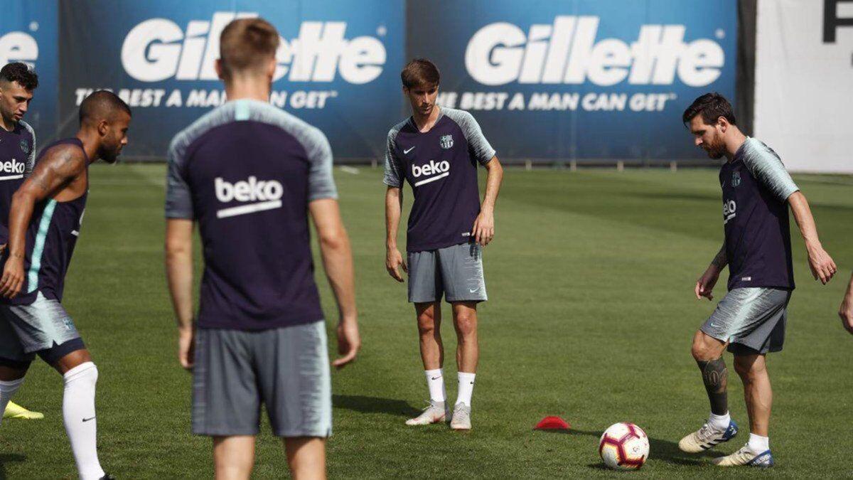 返回巴塞罗那,梅西恢复训练
