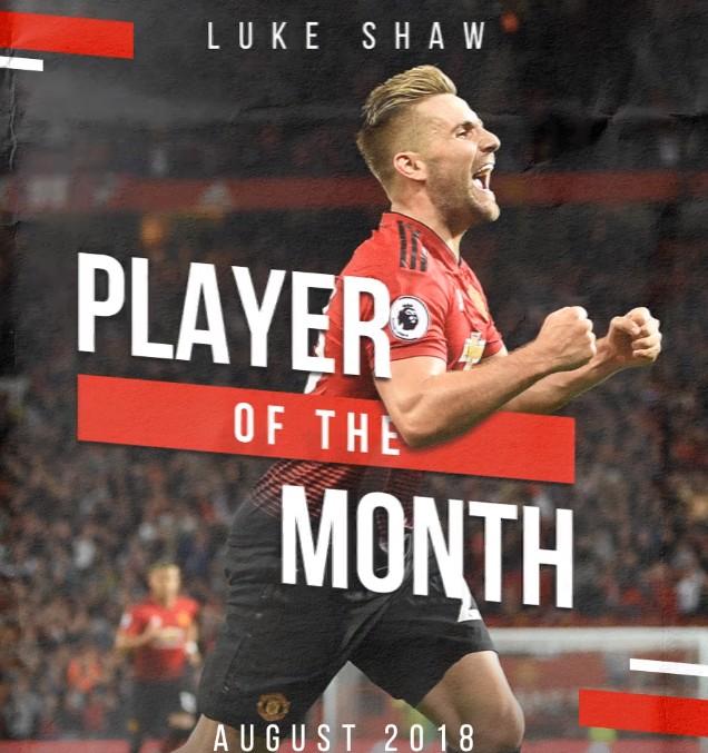曼联上月最佳球员:卢克-肖