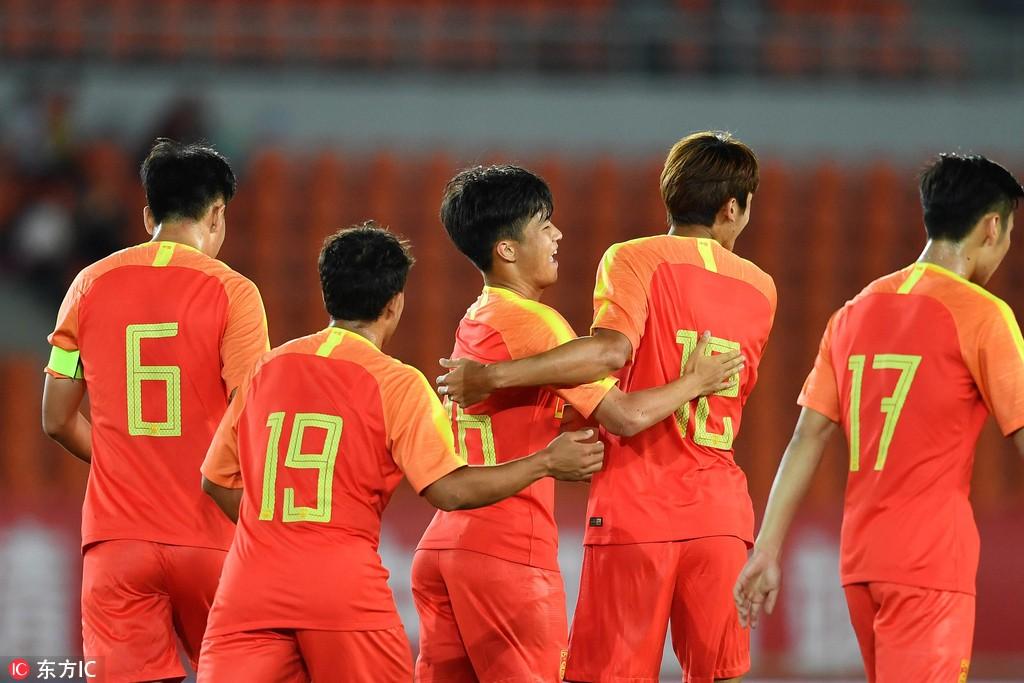 U21国足1-0缅甸U21,贺玺开场破门制