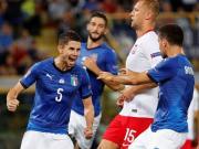意大利1-1波兰,小基耶萨造点,若日尼奥点射打入国家队首球
