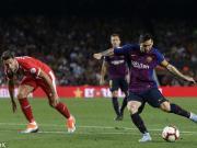 十人巴萨2-2赫罗纳各项赛事6连胜终结,梅西破门,皮克扳平