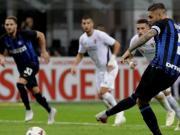 国米2-1佛罗伦萨迎各项赛事三连胜,伊卡尔迪传射获联赛首球