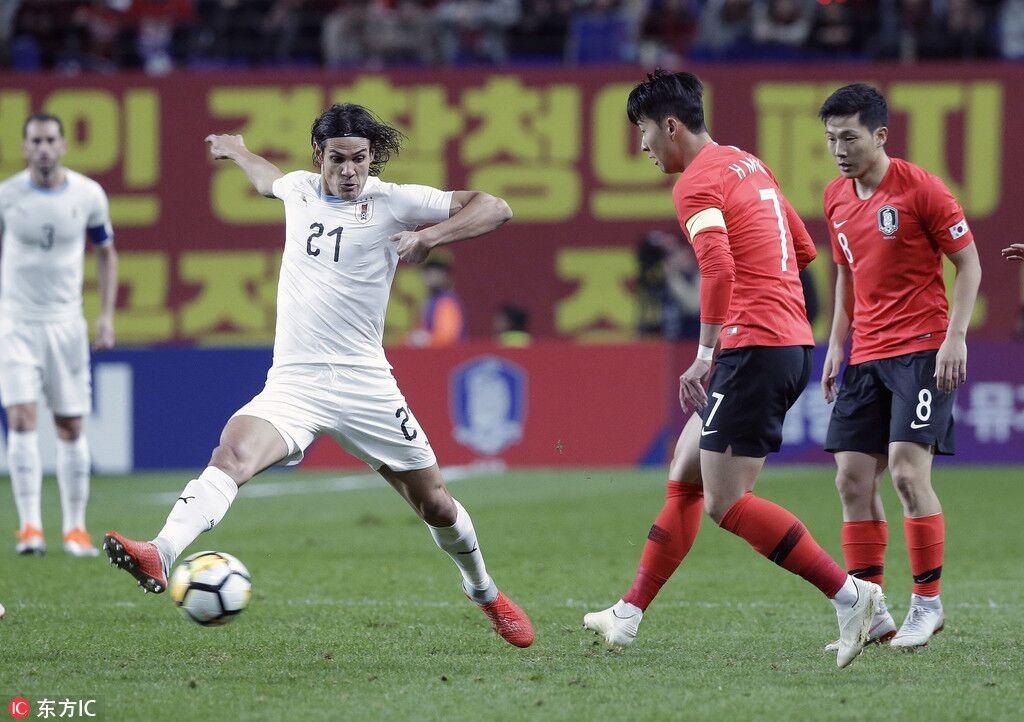 韩国2-1历史首胜乌拉圭孙兴慜失点郑又荣建功