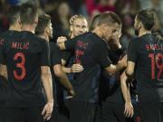 克罗地亚2-1约旦,维达、米特罗维奇头球破门
