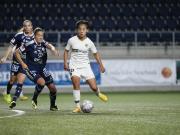 巴黎女足客场2-0宁高平女足,王霜远射打进欧冠首球
