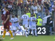 罗马0-2十人斯帕尔各项赛事4连胜遭终结,洛伦佐远射中楣