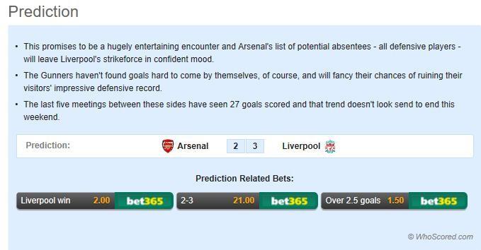 英超第11轮前瞻:利物浦的锋线是检验阿森纳防