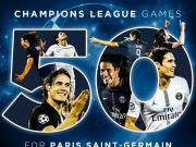 里程碑一战,卡瓦尼代表巴黎欧冠出场50次