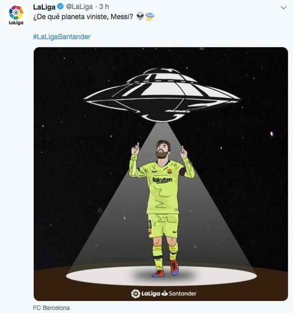 西甲官推吹梅西:突发新闻今晚西甲联赛目击到