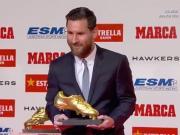梅西获奖感言:当年的梦想只是成为一名职业球员并取得成功