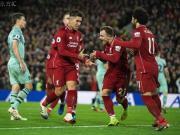 利物浦5-1逆转阿森纳暂时9分优势领跑,菲米戴帽,萨拉赫传射
