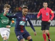 巴黎4-0彭蒂维晋级,内马尔造三球,姆巴佩、德拉克斯勒建功